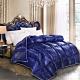 Hilton 希爾頓 新天鵝堡雙絲光銀離子羊毛被2KG/藍 product thumbnail 1