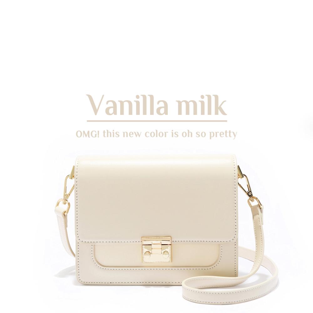 ANNA DOLLY 甜美細緻Tender夾層小方包 香草牛奶