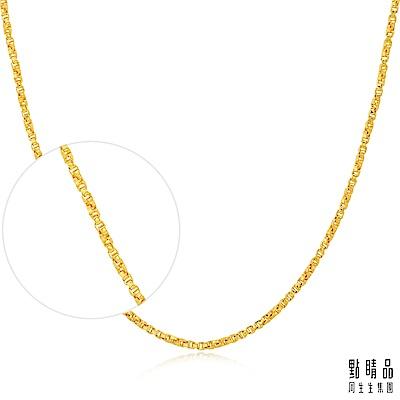 點睛品 機織素鍊黃金項鍊(40cm)_計價黃金