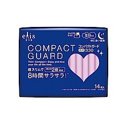 日本大王elis愛麗思COMPACT GUARD GO可愛夜用超薄33cm (14片/包)