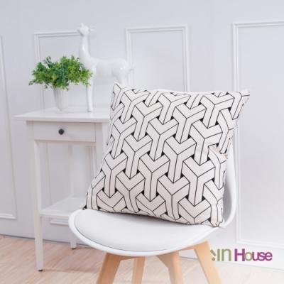IN HOUSE 簡約系列抱枕-3D交錯白(50x50cm)