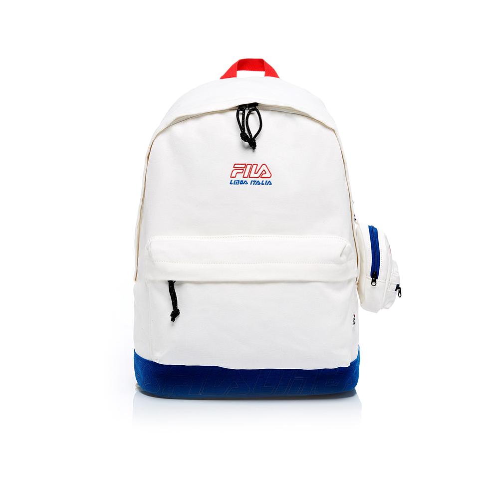 FILA 後背包(附零錢包)-白色 BPT-1601-WT