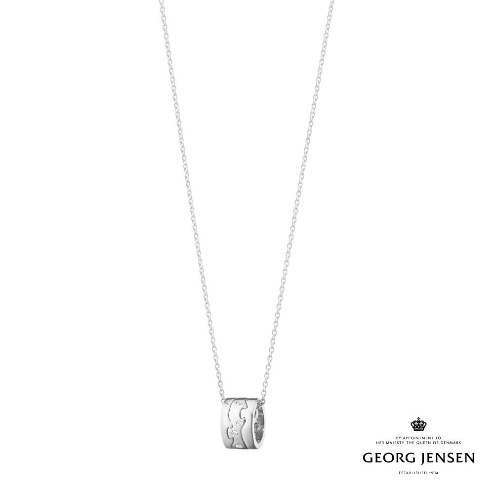 Georg Jensen 喬治傑生 FUSION 18K白金鑽石三圈項鍊