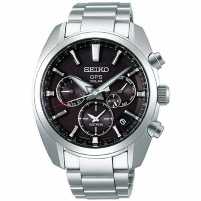 SEIKO精工 雙時區太陽能GPS衛星錶-黑(SSH021J1/5X53-0AJ0D)