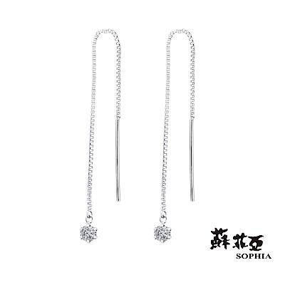 蘇菲亞SOPHIA - 輕珠寶系列流星0.20克拉鑽石耳環