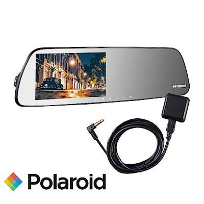 Polaroid 寶麗萊 DS502GS+GC2 後照鏡行車紀錄器+GPS測速天線-快