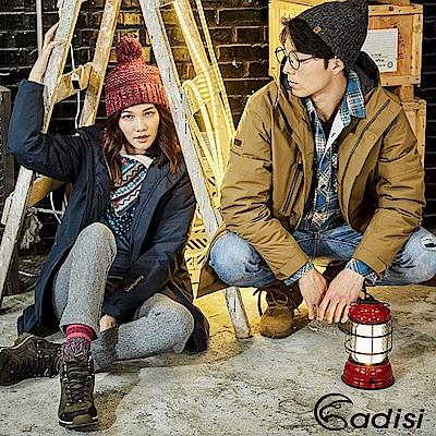 ADISI 女防水透氣長版羽絨保暖連帽外套AJ1721019【海軍藍】