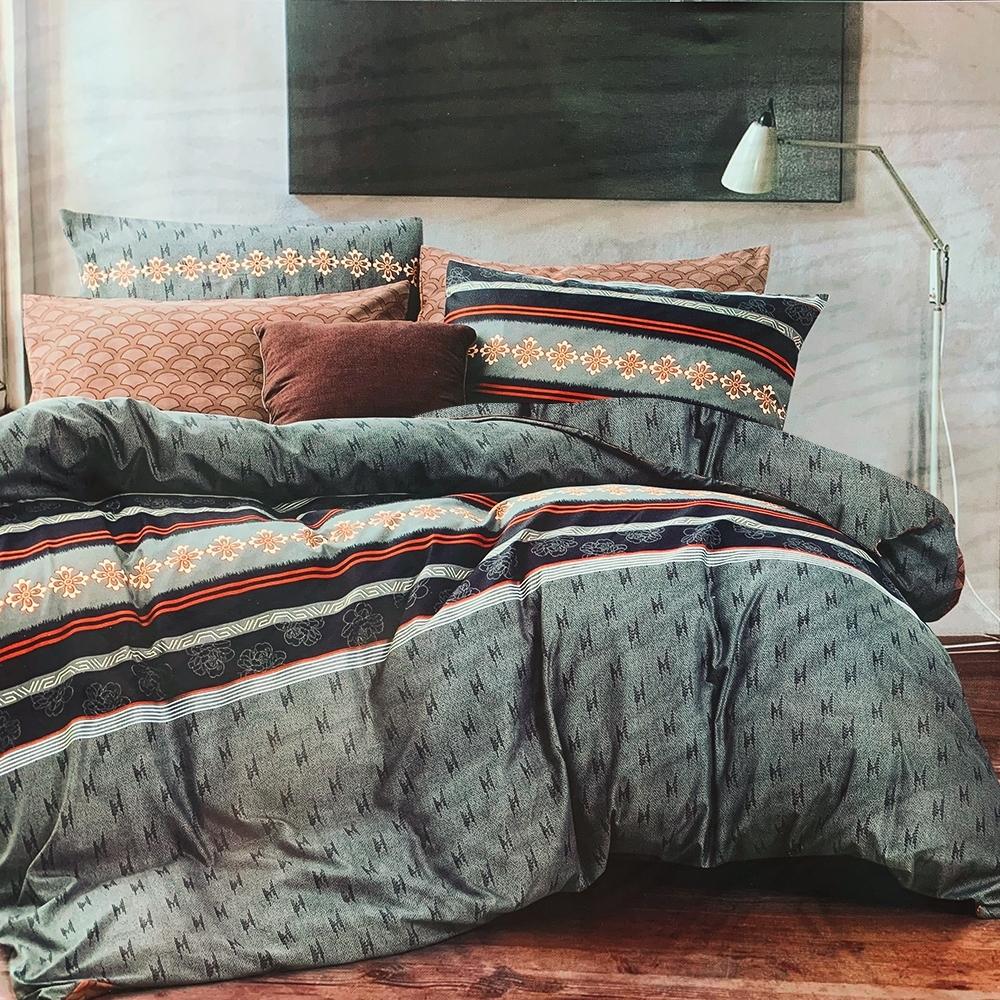 Goelia 巨星情挑 親膚舒柔活性印染超細纖雙人床包枕套三件組