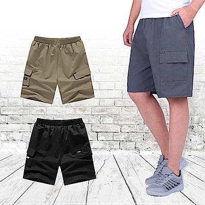 【Incare】簡約時尚鬆緊帶休閒五分褲(3色可選)