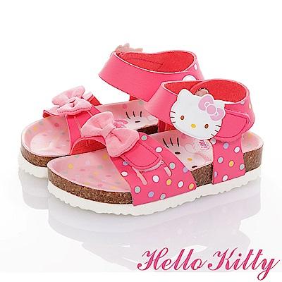 HelloKitty童鞋 輕量減壓吸震腳床型涼鞋-桃
