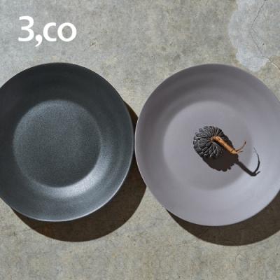 3,co 水波沙拉盤(2件式) - 灰+黑