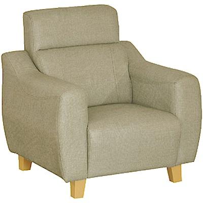 綠活居 艾凱蒂時尚灰貓抓皮革單人座沙發椅-96x79x95cm免組