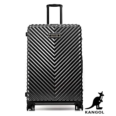 DF travel - 英國袋鼠奢華V款立體髮絲紋鋁框20吋行李箱