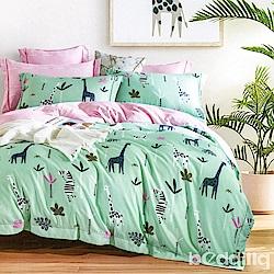 BEDDING-3M專利+頂級天絲-單人床包枕套二件組-樹上長著月亮