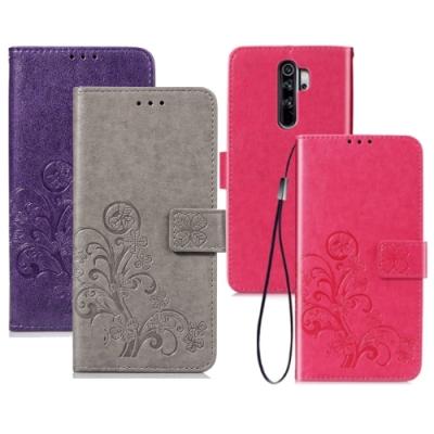 PKG 紅米Note8 Pro 側翻式皮套-精選皮套系列-幸運草