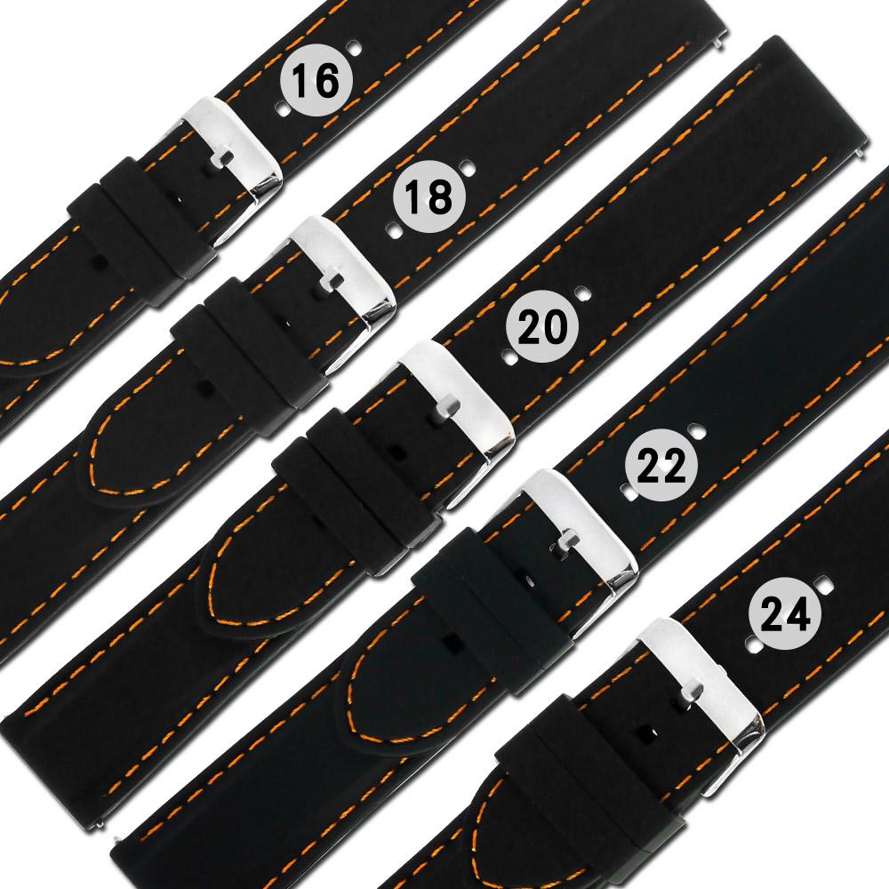 Watchband / 快拆錶耳 舒適耐用 輕便運動型 矽膠錶帶-黑色