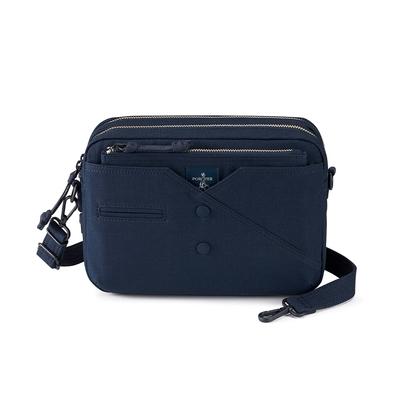 PORTER - 紳士品味CUFF(C)經典雙層斜背包 - 藍
