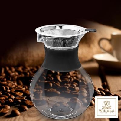 英國WILMAX 雙層304不鏽鋼濾網手沖咖啡過濾壺