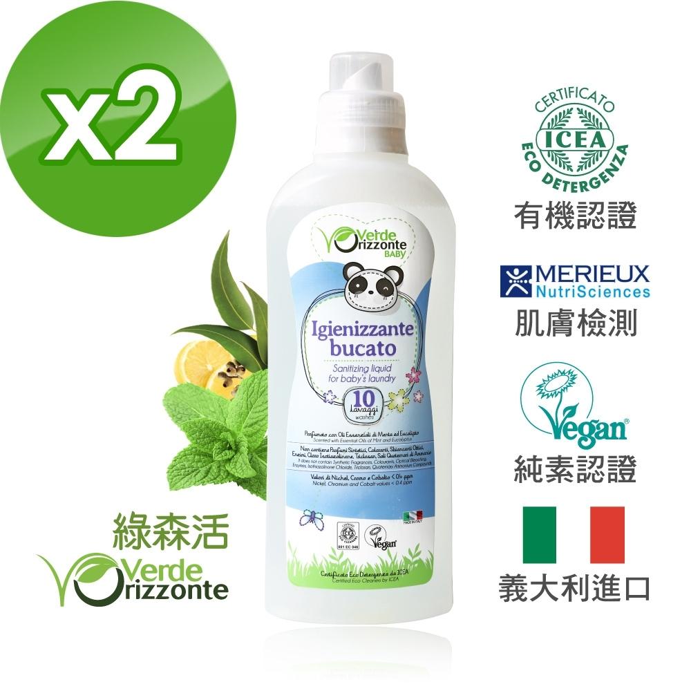 義大利 綠森活 舒敏衣物去漬抗菌液 2入組(1000ml)x2瓶
