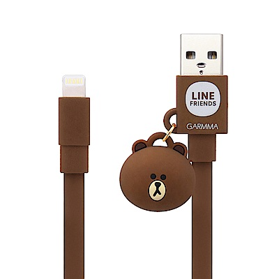 GARMMA LINE FRIENDS Apple Lightning公仔吊飾傳輸線 熊大