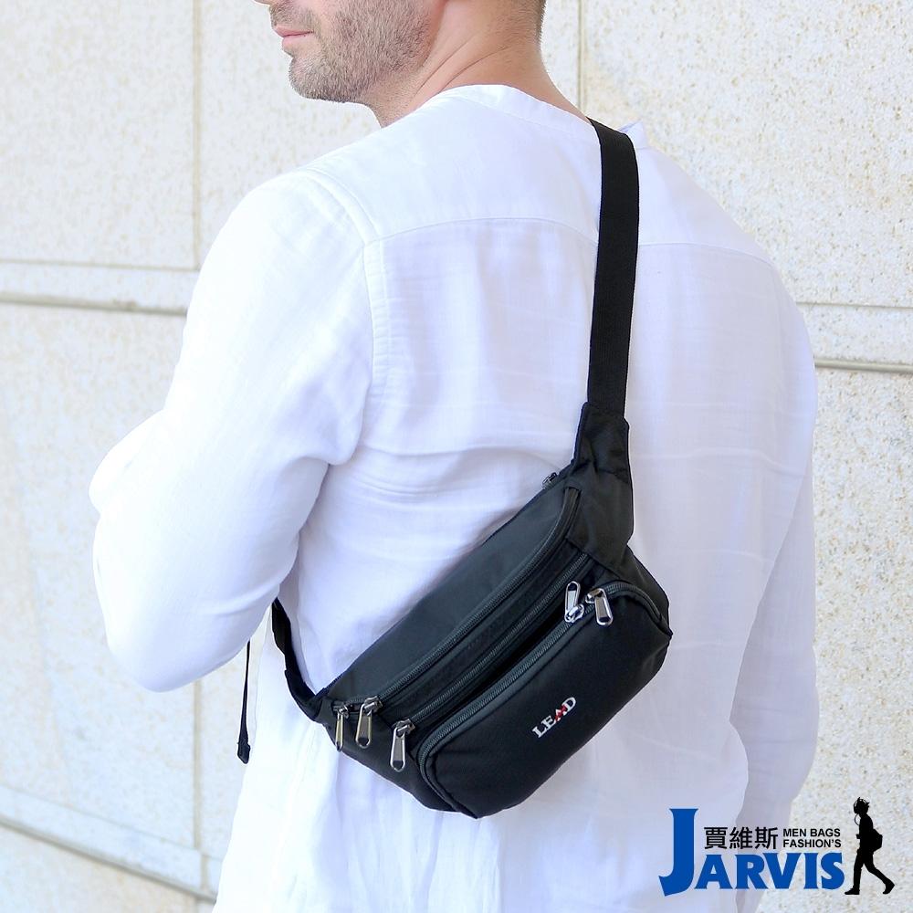 Jarvis賈維斯 萬用腰包 側肩背旅遊商務隨身包-經典