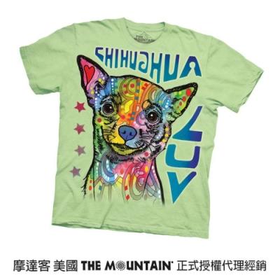 摩達客(預購)美國進口The Mountain 彩繪愛吉娃娃犬 純棉環保短袖T恤