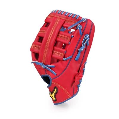 MIZUNO 壘球手套外野手用 紅藍