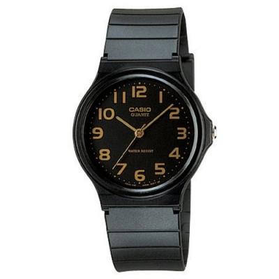 CASIO 超輕薄感數字錶(MQ-24-1B2)-黑x橘數字