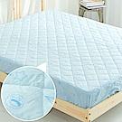 奶油獅-星空飛行-台灣製造-美國抗菌防污鋪棉保潔墊床包-單人加大3.5尺-藍