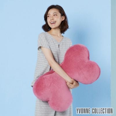 Yvonne Collection 素面大骨頭抱枕-醋栗粉