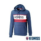 K-SWISS KS Logo Hoodie刷毛連帽上衣-女-藍
