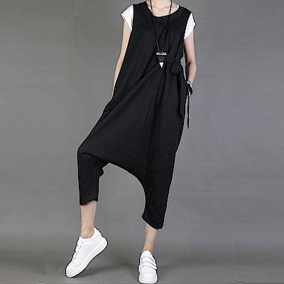韓版寬鬆哈倫連身九分背帶褲垮褲-設計所在 MP1527
