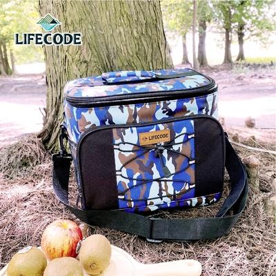 【LIFECODE】藍迷彩保冰袋/保溫袋/保冷袋(15L公升)