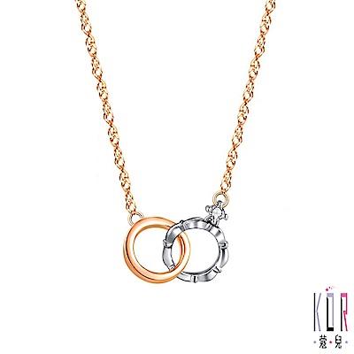 K OR蔻兒 姐的Style鑽石/玫瑰金項鍊