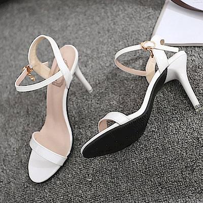 KEITH-WILL時尚鞋館 女人話題典雅高跟涼鞋-白色