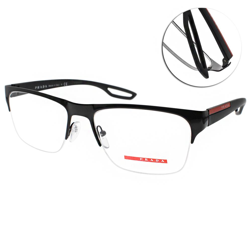 PRADA光學眼鏡 時尚休閒/黑 #VPS55F 1AB1O1