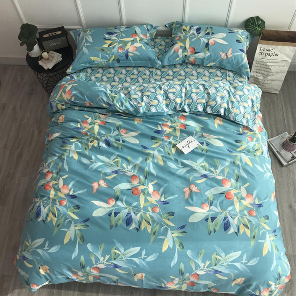 BUNNY LIFE 普蘭緹-加大-簡約精梳純棉床包被套組