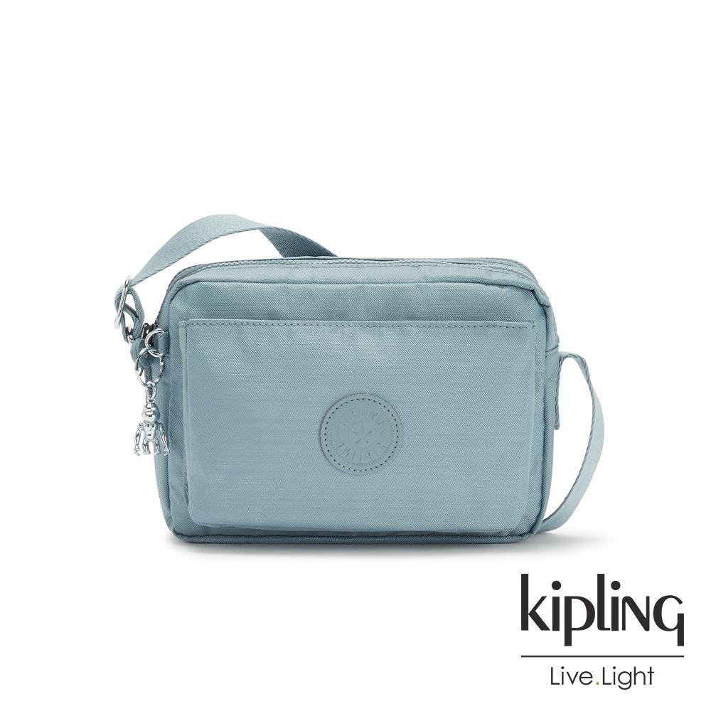 Kipling 寧靜海洋藍多層隨身斜背包-ABANU M