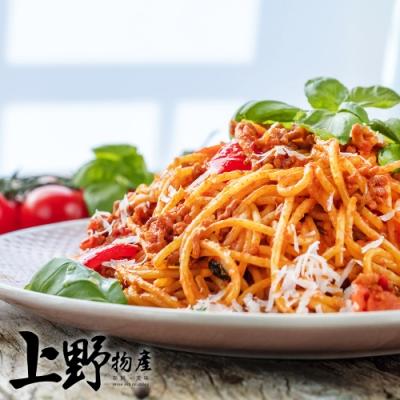 【上野物產】拿坡里肉醬麵(麵體+醬料包 310g土10%/包) x24包