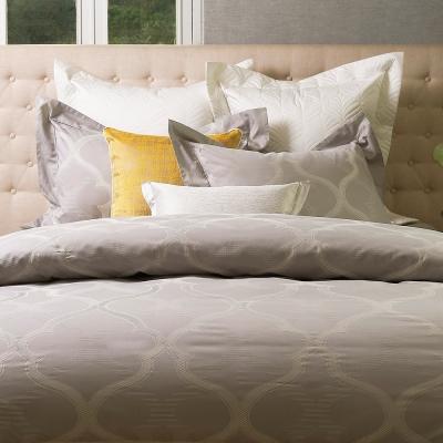 VENEZIA│古根漢姆 (銀灰) | 進口精梳棉 緹花寢飾 單人枕套床包組
