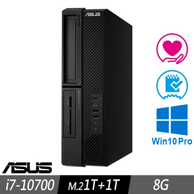 ASUS M900SA 薄型商用電腦 i7-10700/8GB/M.2-1TB+1TB/W10P