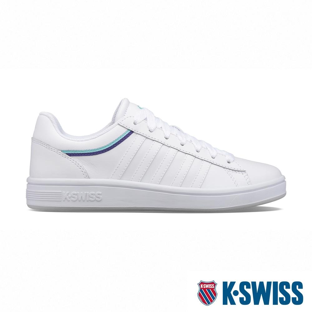 K-SWISS Court Winston 時尚運動鞋-女-白/藍/深紫