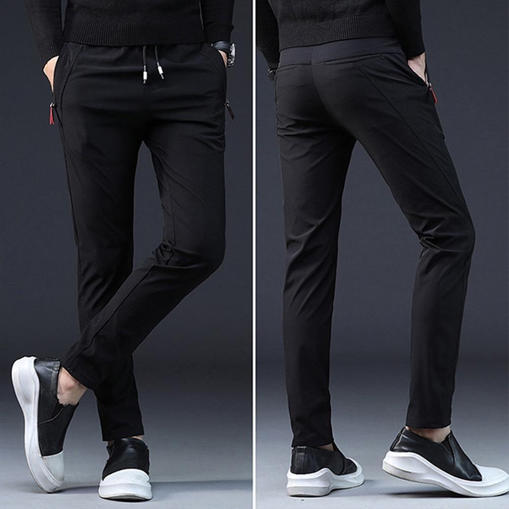 【KISSDIAMOND】韓版時尚修身直筒高彈性休閒褲(KD-918)