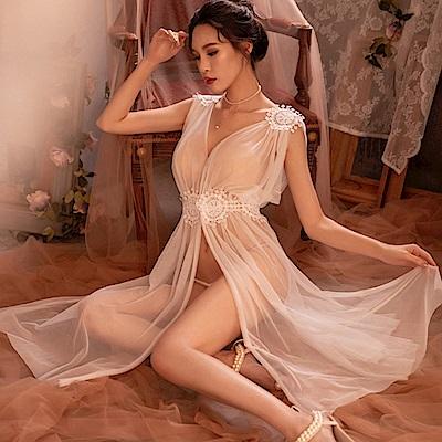 情趣罩衫 維納斯女神睡衣 EM衣柔魅姬(白色)