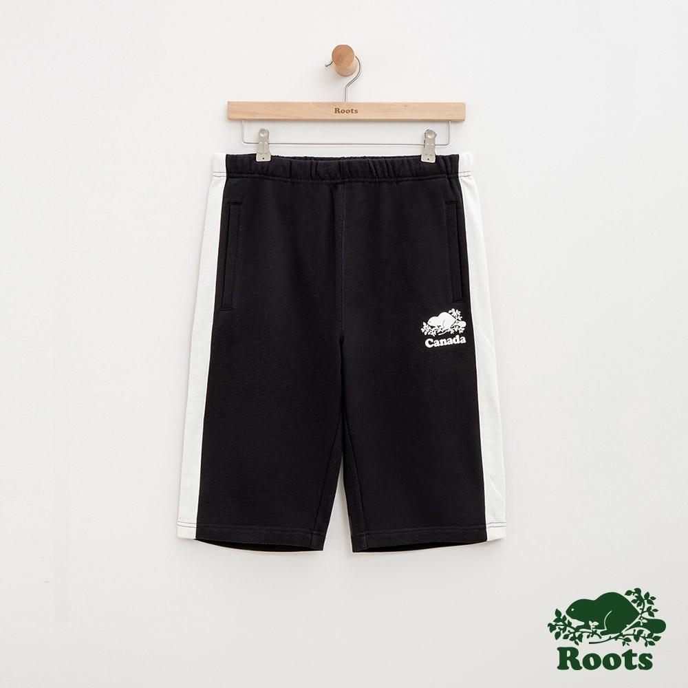 男裝Roots 加拿大系列棉質短褲-黑
