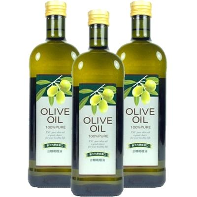 台糖 純級橄欖油3瓶(1公升/瓶)