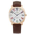 [雙11]Valentino Coupeau 范倫鐵諾 古柏 萊茵腕錶 玫瑰金色 咖啡皮帶