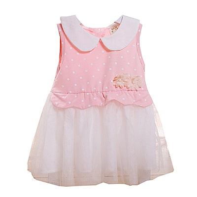 圓領點點紗裙無袖洋裝  k50369 魔法Baby