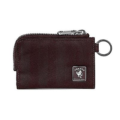 PORTER - 樂音狂想MELODY復古L型卡片零錢包 - 梅洛紅