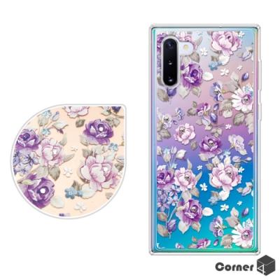 Corner4 Samsung Galaxy Note 10 奧地利彩鑽雙料手機殼-紫薔薇